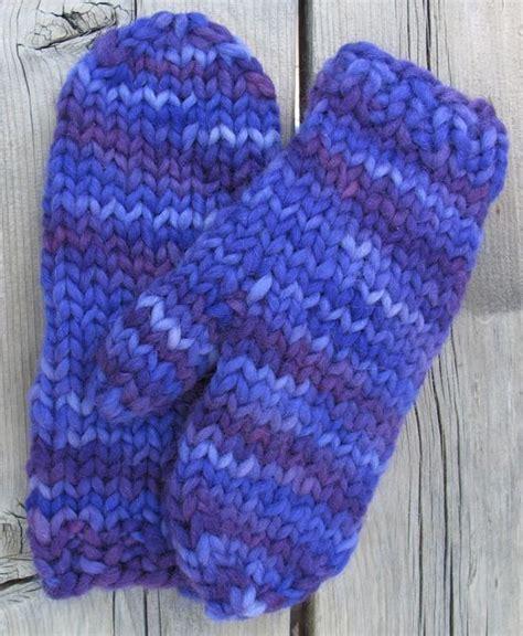 knitting pattern chunky yarn mittens super bulky quick mittens http knittingpureandsimple