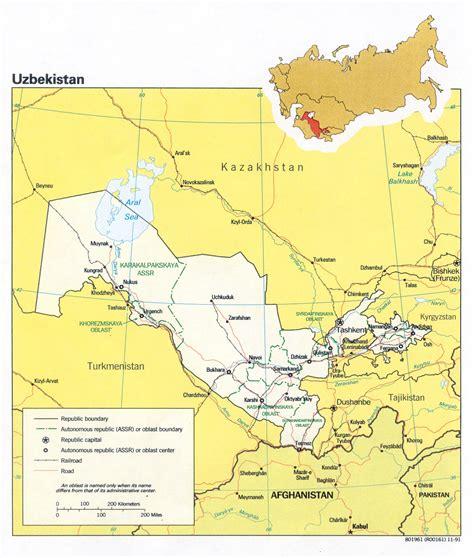 uzbekistan on a world map uzbekistan on world map