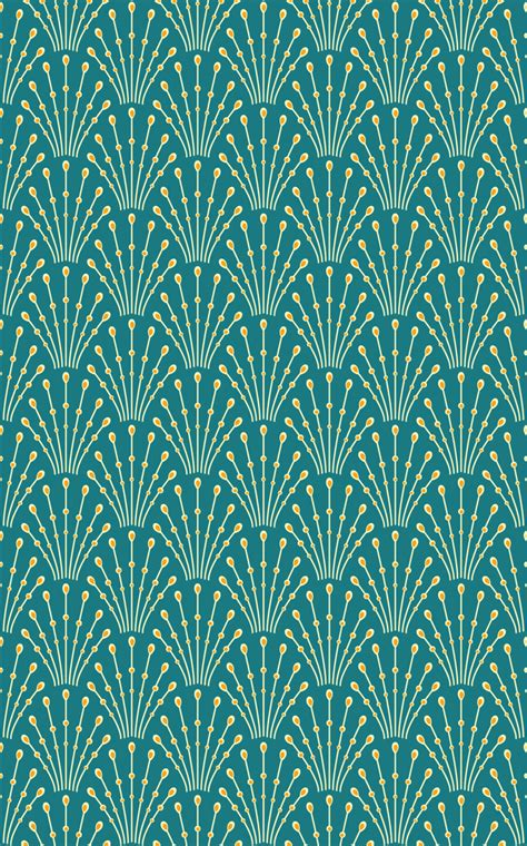 green art deco wallpaper gallery