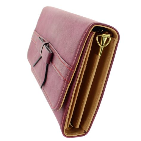 Bow Faux Leather Wallet bow textured faux leather wallet on a chain 283756 100
