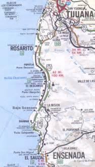 map of tijuana baja california coastal map for tijuana to ensenada baja mexico