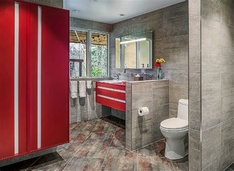 gray and red bathroom ideas 40 stylish small bathroom design ideas