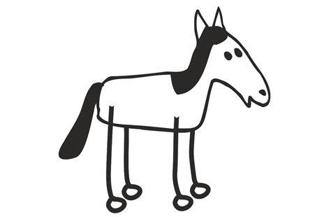 Auto Sticker Pferd by Family Sticker Pferd Strichzeichnung 70 X 70 Mm Appliziert