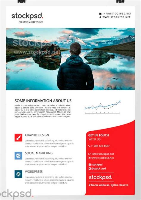 Business Handout Template corporate business free psd flyer template for