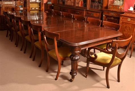 12 Foot Dining Room Table Antique 12 Foot Dining Table Circa 1860 And 14 Chairs At 1stdibs