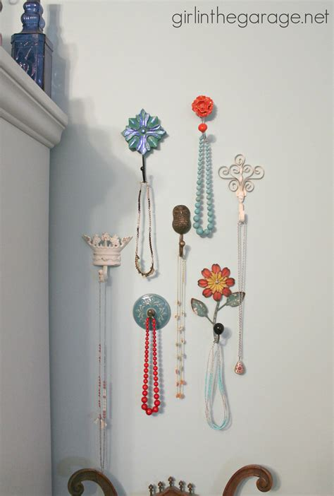 Wallflower Decorative Clothes Hooks by Decorative Wall Hooks As Jewelry Storage In The Garage 174