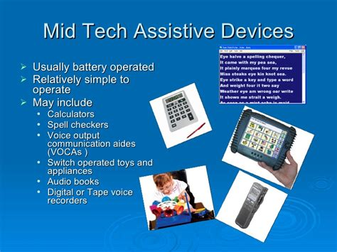 Justification Letter For Assistive Technology Assistive Tech Intro Definitions And Descriptions Of Various Types