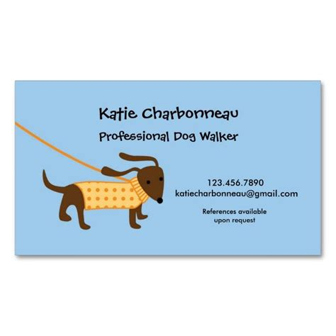 walker business card templates 2185 best images about animal pet care business card