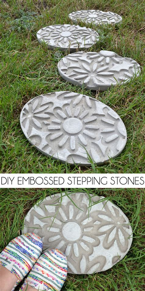 diy embossed stepping stones how to make stepping stones dream a little bigger