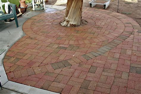 paver patio designs pavers around trees as decorate backyard small patio ideas with brick