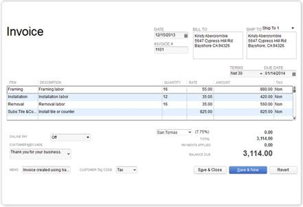intuit templates invoicing and accounting software quickbooks