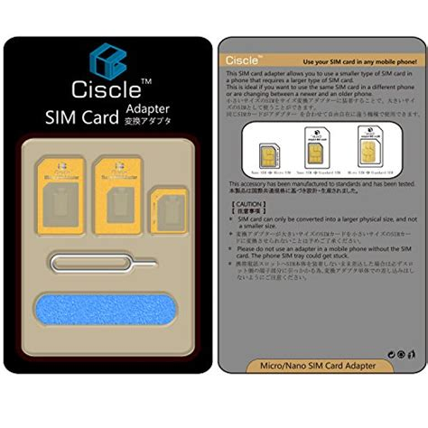 Nano Sim Card Template For Iphone 6 by Ciscle Nano Sim Microsim 変換アダプター 4枚セット Iphone5s 5c 5 4s 4