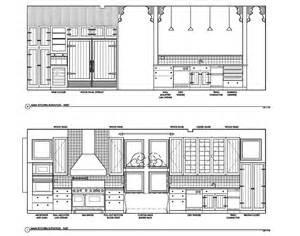 kitchen detail telluride colorado ski villa architectural drawing