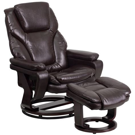 contemporary leather recliners with ottoman contemporary brown leather recliner and ottoman with