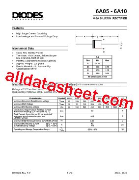 semiconductor diode pdf 6a4 datasheet pdf diodes incorporated