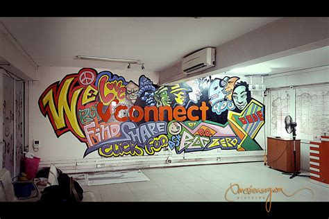 Cool Office Decor Vconnect Office Gets Cool Graffiti Facelift From Anth