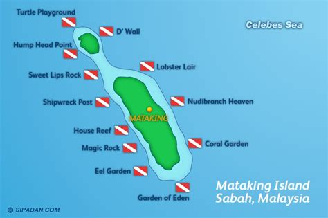dive site sipadan dive site map