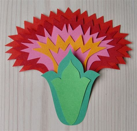 Paper Cutting Flowers Crafts - wycinanki on folk and paper