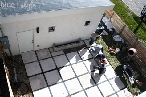 adding pavers to concrete patio outdoor style backyard evolution part 2 modern patio