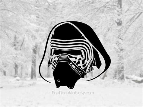 kylo ren helmet coloring page kylo ren decal kylo ren helmet sticker star wars decal