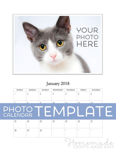 free photo calendar template free photo calendar template for 2018 2019 for ms word