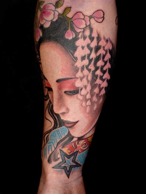 tattoo oriental significado colorful japanese geisha tattoo tattoos pinterest