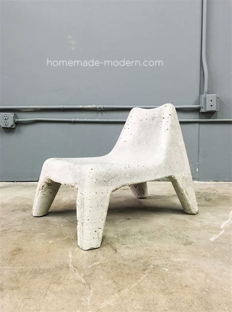 Plastic Concrete Chairs by Modern Ep100 Diy Concrete Chair