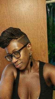 how to cut a natural box cut shaved sides with more crochet braids awesome hair