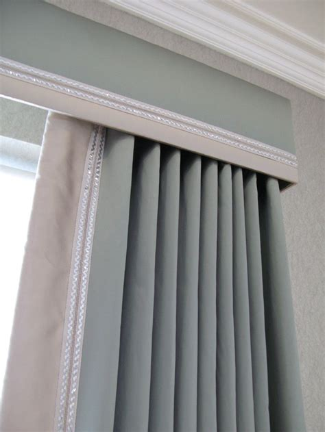 idea cornice cornice and curtains with contrast trim can always just
