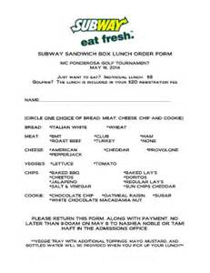 subway template subway box lunch order form fill printable