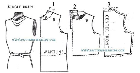 pattern drafting cowl neckline cowl neck front pattern making com