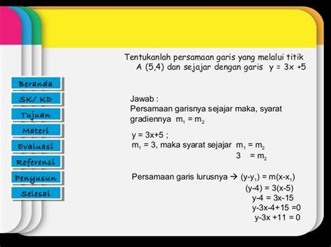 cara membuat grafik persamaan garis lurus di excel 2007 contoh grafik persamaan garis lurus contoh l