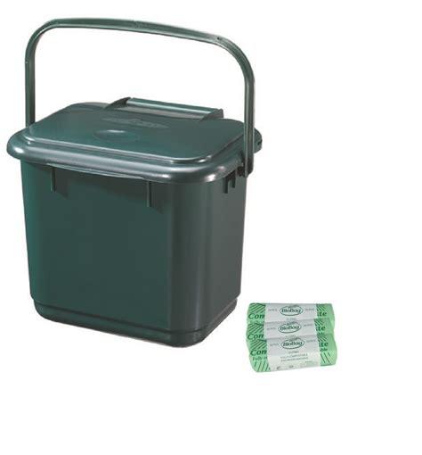 Kitchen Waste Compost Bin by 5 Litre Kitchen Caddy Compost Food Waste Bin Green With