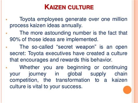Number Of Employees At Toyota Kaizen The Secret Weapon