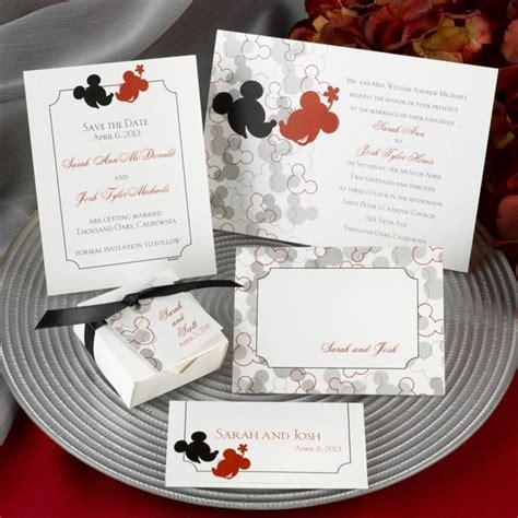 mickey minnie mouse wedding invitations 1001 id 233 es pour le meilleur faire part mariage disney