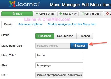 change category blog layout joomla joomla 3 0 how to set menu item to show articles in