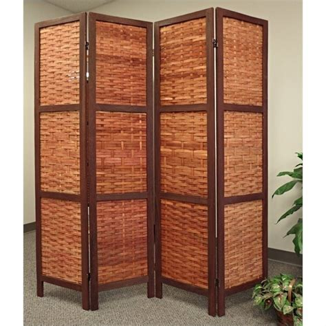 proman products saigon folding screen bamboo room divider