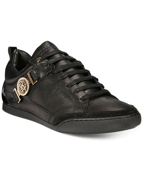 s low top sneakers lyst roberto cavalli low top sneakers in black for