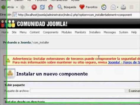 tutorial joomla plugin tutorial joomla componentes modulos y plugins youtube