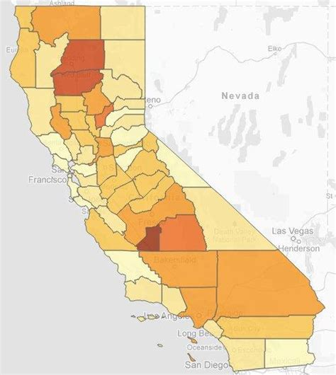 california jails map study highlights high incarceration rate in valley