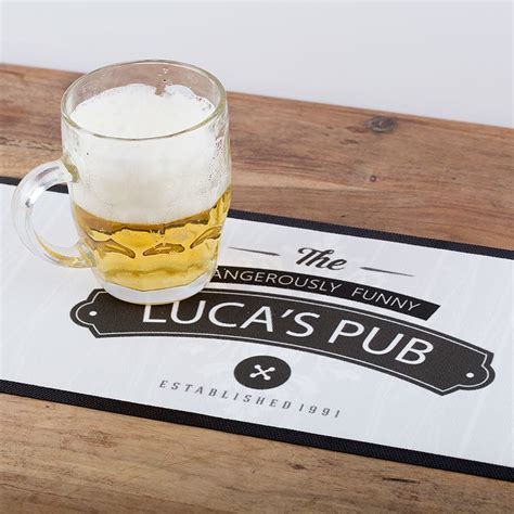 custom bar runners print custom beer mats with your designs