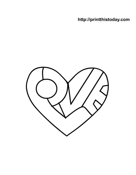 love heart coloring pages to print heart coloring pages