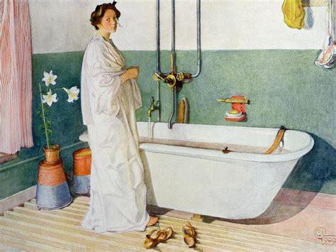 bath painting bathroom lisbeth painting by carl larsson