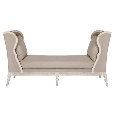 french country chaise lounge diggs bleached wood french country scooped back chaise