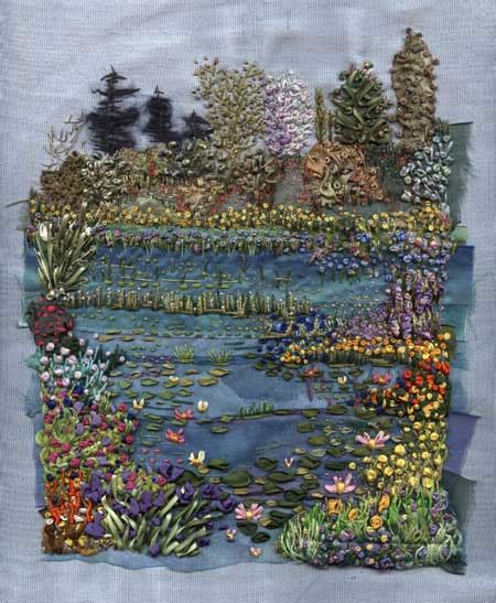 Patchwork Gardens - use this lovely garden embroidery for your patchwork quilt