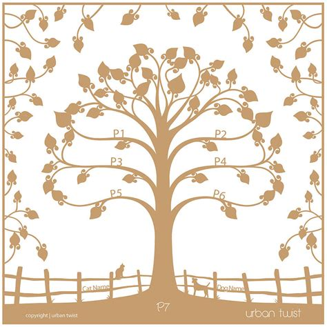paper cut tree template personalised traditional family tree papercut by