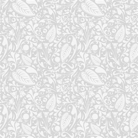 vector background pattern gray seamless gray pattern with foliage royalty free vector