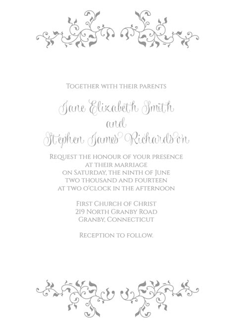 Wedding Invitation Header by Stylized Foliage And Leaves Invitation Wedding