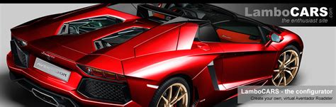 Make Your Own Lamborghini Create Your Own Lamborghini Aventador Roadster The