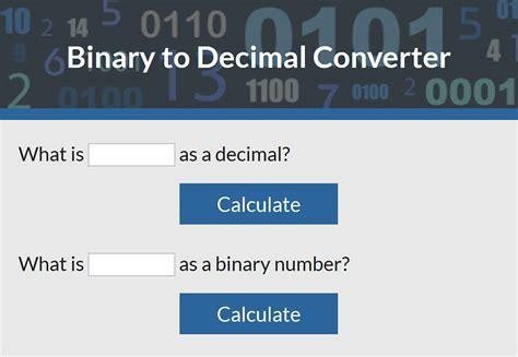 calculator binary to decimal fertility calculator lovetoknow